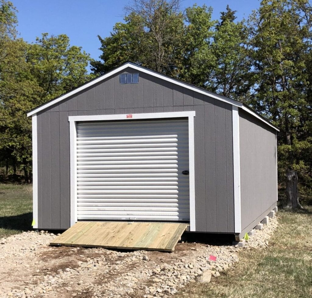 Portable Garage (Wood Siding) - Oakley Portable Buildings